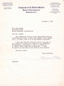 1960 Letter from Congressman