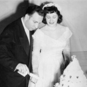 Hillard & Ruth at their wedding reception.