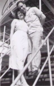 Ruth & Hillard on Honeymoon